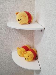 "Thumbnail of ""木製R型コーナーミニ飾り棚(ホワイト)セット☆"""
