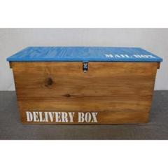 "Thumbnail of ""《受注生産E13》りんご箱 蓋付き 木製宅配ボックス ポスト デリバリーボックス"""