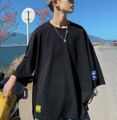 "Thumbnail of ""七分袖 Tシャツ 黒T ブラック カジュアル"""