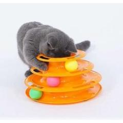"Thumbnail of ""猫おもちゃ キャットボールタワー ストレス解消 ボール3個付き"""