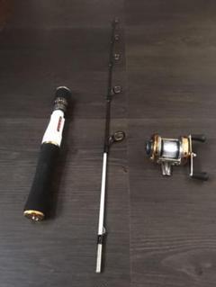 【セット】ベイトリール ロッド ◆強力 テトラに 2ピース 根魚等