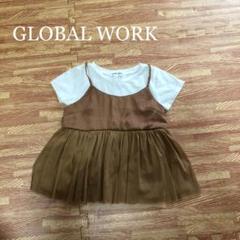 "Thumbnail of ""GLOBAL WORK 女の子 半袖 Tシャツ レイヤードスタイル 80 90"""