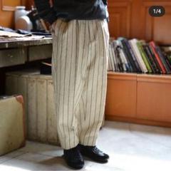 "Thumbnail of ""HEUGN/ユーゲン ストライプ トラウザー パンツ Mサイズ 2"""