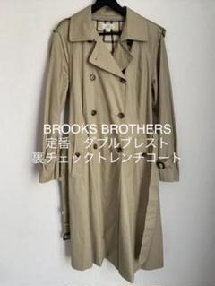 """Thumbnail of """"BROOKS BROTHERS 定番 ダブルブレスト裏チェックトレンチコート"""""""