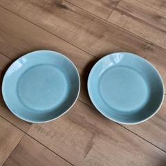 "Thumbnail of ""新品 2枚セット リネン 貫入 ブルー 丸皿 和食器 大皿"""
