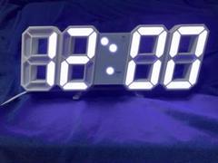 """Thumbnail of """"新品未使用≫≫ 白枠白光 3Dデジタル時計 目覚まし 暗闇に数字が浮かぶ!"""""""