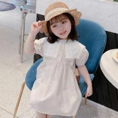 """Thumbnail of """"韓国子供服 Sailor Onepiece〔新品/90/beige〕"""""""