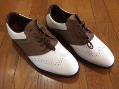 "Thumbnail of ""ミズノ ゴルフシューズ 26cm 4e 日本製 ブラウン ホワイト"""