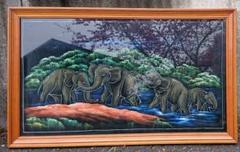 "Thumbnail of ""東南アジア絵画(98×59.3㎝額込み) 送料込み"""