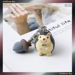 "Thumbnail of ""新品入荷★超可愛い★ハリネズミ★きのこ★グレー★キーホルダー バッグチャーム"""