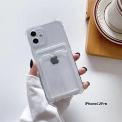 "Thumbnail of ""iPhone12Pro カード ポケット 収納 クリア 透明 ケース 韓国"""
