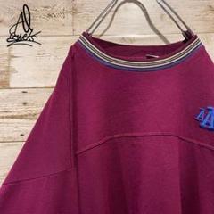 "Thumbnail of ""《USA製》企業ロゴスウェット XL♫ライトパープル 薄紫 リブライン 刺繍ロゴ"""