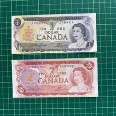 "Thumbnail of ""カナダ紙幣 旧紙幣 未使用 2枚"""