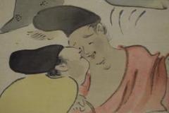 """Thumbnail of """"【真作】日比野白圭/茶屋之図/宴図/納涼/無礼講/掛軸☆宝船☆Y-179 JM"""""""