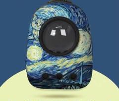 "Thumbnail of ""油絵タッチの外出用ペットランドセル、携帯用バックパック猫カプセルペットランドセル"""