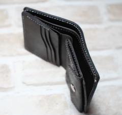 "Thumbnail of ""馬ヌメ革で作った二つ折りミニ財布(チョコ)"""