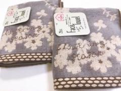 "Thumbnail of ""フェイスタオル♡北欧 ボタニカル 厚手 ふんわり スチームシャーリング2枚セット"""