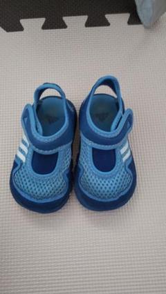 "Thumbnail of ""adidas サンダル ベビー 12cm 青 ブルー"""