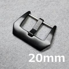 """Thumbnail of """"時計バックル フィッシュテール型 尾錠幅 20mm ブラック"""""""