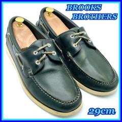 "Thumbnail of ""BROOKS BROTHERS デッキシューズ ダークグリーン 29 レザー 革"""