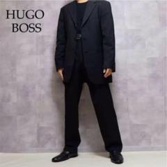 """Thumbnail of """"HUGO BOSS ブラック ウール ストライプ テーラード セットアップ"""""""