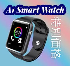 """Thumbnail of """"数量限定販売 A1 Smart Watch 男女兼用(ユニセックス) 黒"""""""