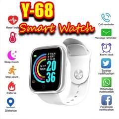 "Thumbnail of ""Y-68 スマートウォッチ ホワイト 歩数計 プレゼント Android"""