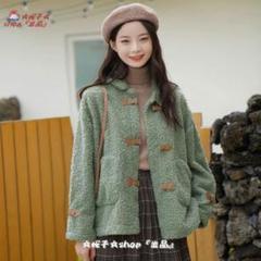 "Thumbnail of ""秋冬の新型学生の綿の服は保温して子羊の毛のオーバーに合います。"""