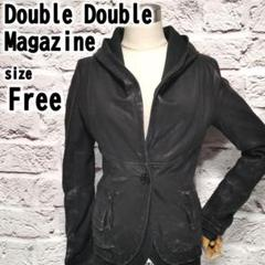 "Thumbnail of ""【F】Double Double Magazine レディース レザー パーカー"""