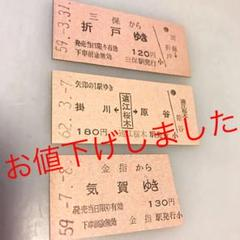 "Thumbnail of ""国鉄 旧清水港線・二俣線 硬券乗車券3枚(最終日付あり)"""