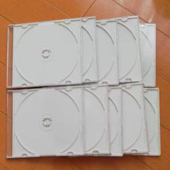 "Thumbnail of ""CD DVD ブルーレイ収納 空ケース〔白〕10枚"""