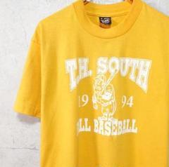 "Thumbnail of ""FRUIT OF THE LOOM イエロー ビックプリント 野球 Tシャツ"""
