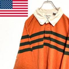 """Thumbnail of """"●IZOD● アメリカ古着 ラグビー ラガーシャツ オレンジ メンズ"""""""