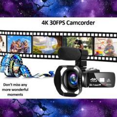"Thumbnail of ""【4K&4800万超絶高画質★プロ用顔負けの機能を多機能搭載♪❤】ビデオカメラ"""