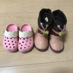 "Thumbnail of ""13cm 女の子 長靴 サンダル 2点セット"""