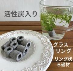 "Thumbnail of ""メダカ 水草 活性炭入リングフィルター8個《グレ−》観賞魚用品 アクアリウム"""