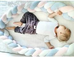 """Thumbnail of """"ベビーベッドガード サイドガード抱き枕 ノットクッション 赤ちゃんベッドバンパ"""""""