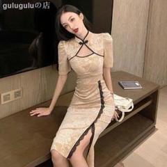 """Thumbnail of """"ファッションベルベットのエンボス気質の有名な媛のチャイナドレスの改良モデル 3"""""""