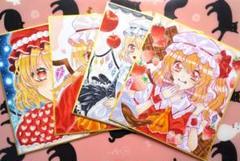 """Thumbnail of """"☆東方 フランドール・スカーレット 手描き イラスト 色紙 4枚セット☆"""""""