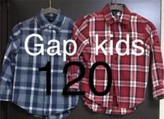 "Thumbnail of ""GAP kids 120 チェックシャツ 2枚組"""