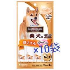 "Thumbnail of ""ベストバランスおやつ 柴犬用 ささみ・コラーゲン入り (15g×4本)×10袋"""