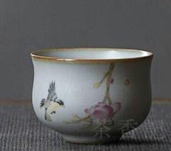 """Thumbnail of """"景徳鎮  中国茶器  粗陶手絵  田園風茶碗"""""""