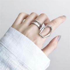 "Thumbnail of ""シルバー リング 指輪 フリーサイズ 2個セット 新品 送料込み"""