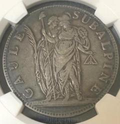 """Thumbnail of """"大型銀貨 ピエモント スバルピネ共和国 5フラン NGC VF35 イタリア"""""""