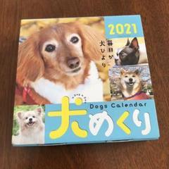 "Thumbnail of ""未使用、2021年、犬めくり、日めくりカレンダー"""