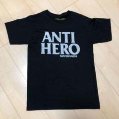ANTI HERO 黒×シルバー Tシャツ