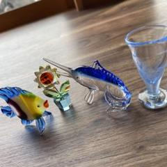 "Thumbnail of ""魚 ガラス細工 置き物"""
