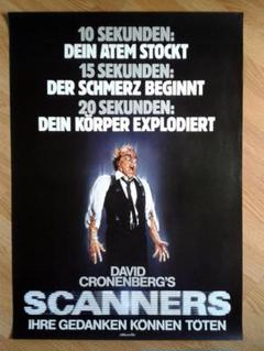 """Thumbnail of """"デビッド・クローネンバーグ監督作!映画『スキャナーズ』希少なドイツ版ポスター!"""""""