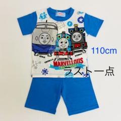 """Thumbnail of """"新品13932機関車トーマス青ブルー半袖光るパジャマ110cmハーフパンツセット"""""""