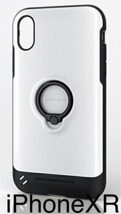 "Thumbnail of ""iPhoneXR ケース 耐衝撃 TOUGHSLIM フィンガーリング ホワイト"""
